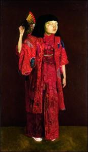 岸田劉生 《童女舞姿》  1924年 / 91.0 × 53.0 cm / 油彩・カンヴァス