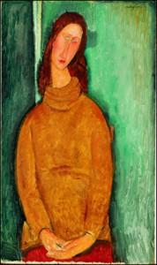 アメデオ・モディリアーニ  《ジャンヌ・エビュテルヌの肖像》 1919年 / 92.3 × 54.5 cm / 油彩・カンヴァス