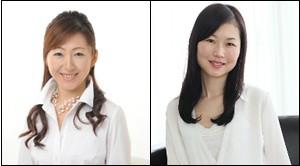 (左) お菓子研究家 波毛英里紗さん (右) ベビーマッサージ講師 森田知子さん